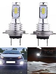 cheap -2 Pcs LED Lamp Super Bright  SMD3570 Car Fog Lights White Driving Running Led H1/H3/H4/H7/H8/H11/9005/9006 Bulbs For Auto Automotive