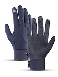 cheap -Winter Bike Gloves / Cycling Gloves Touch Gloves Waterproof Windproof Warm Skidproof Full Finger Gloves Sports Gloves Fleece Black Blue Grey for Adults' Cycling / Bike