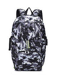 cheap -Unisex Polyester Oxford School Bag Commuter Backpack Large Capacity Zipper Geometric Sports & Outdoor Camping & Hiking Backpack Dark Grey Black Red