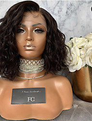 cheap -12-28 Inch Front Lace Wig Ladies Black Short Curly Hair Synthetic Fiber Headgear