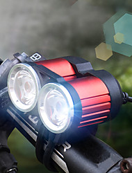 cheap -LED Bike Light Front Bike Light LED Bicycle Cycling Professional 18650 1600 lm Rechargeable Battery White Cycling / Bike / Aluminum Alloy / IPX 6
