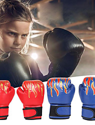 cheap -Boxing Gloves For Kung Fu Boxing Training MMA Grappling PU Leather Kids Child - Flame red Flame blue Flame black
