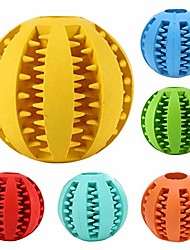 cheap -dog toy ball, bite resistant toy ball for dogs puppies,dog food treat feeder tooth cleaning ball toy, dog chew teeth cleaning toy iq training ball toy (red)