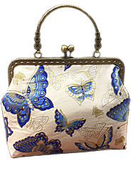 cheap -Women's Bags Straw Cotton Top Handle Bag Tassel Flower Embellished&Embroidered Floral Print 2020 Date Birthday White Blue Royal Blue