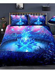 cheap -Luminous Floral Print 3-Piece Duvet Cover Set Hotel Bedding Sets Comforter Cover with Soft Lightweight Microfiber For Holiday Decoration(Include 1 Duvet Cover and 1or 2 Pillowcases)