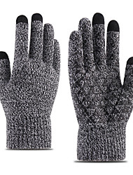 cheap -Winter Bike Gloves / Cycling Gloves Wicking Braided Sweat-Wicking Full Finger Gloves Sports Gloves Black Grey Dark Navy for Adults Cycling / Bike
