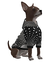 cheap -Dog Hoodie Graphic Optical Illusion 3D Print Ordinary Fashion Casual / Daily Dog Clothes Puppy Clothes Dog Outfits Breathable Black Costume for Girl and Boy Dog Polyster S M L XL