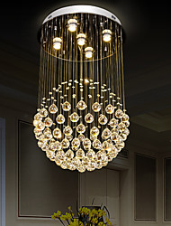 cheap -80cm Crystal Chandelier Ceiling Light DIY Modernity Luxury Globe K9 Crystal Pendant Lighting Hotel Bedroom Dining Room Store Restaurant LED Pendant Lamp Indoor Crystal Chandeliers Lighting