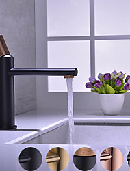 cheap -Copper Bathroom Sink Faucet,Widespread Oil-rubbed Bronze/Gold/Rose Gold Centerset Single Handle One Hole Bath Taps with Hot and Cold Switch