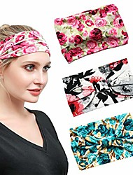 cheap -1 pack women wide elastic head wrap headband sports yoga hair band