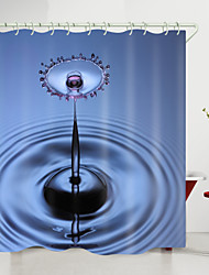 cheap -Water Drop Pattern Digital Printing Shower Curtain Shower Curtains  Hooks Modern Polyester New Design 72 Inch