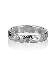 cheap -size 8.5 sterling silver 925 hawaiian princess scroll cut out edge promise ring