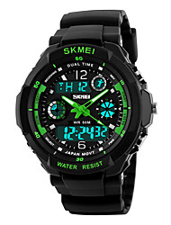 cheap -kid watch multi function digital led sport waterproof electronic quartz watches for child boy girls gift green (green)