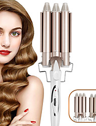 cheap -Three-tube Curling Iron Water Corrugated Splint Egg Roll Head Large Curling Iron Electric Curling Iron