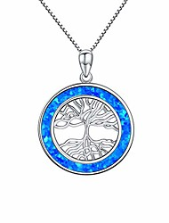 cheap -gold plated tree of life necklace, abalone and created opal necklace pendant, mother's day family tree gift
