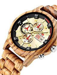 cheap -Men's Dress Watch Analog Quartz Stylish Casual Calendar / date / day Stopwatch / One Year / Leather