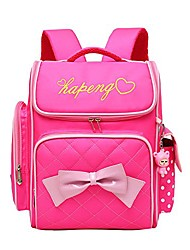 cheap -vidoscla cute print bowknot backpack elementary middle school bag waterproof bookbag with little cuty doll for kids girls
