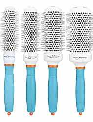 cheap -aluminum tube roller comb round hairdressing comb hair styling comb hairstyle tool no hair tangle suitable for all hair types(53#)