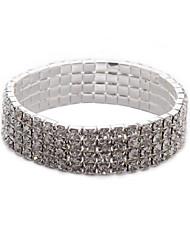 cheap -Women's Bracelet Classic Blessed Stylish Rhinestone Bracelet Jewelry Silver For Daily