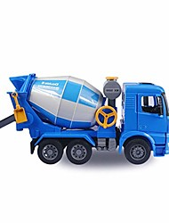 cheap -manual sliding engineering truck transport cement mixer engineering model children's toy car gift 1:20 (color : blue)