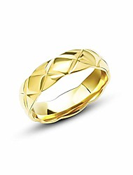cheap -classic fashion 18k titanium steel ring wide version narrow version (gold wide, 9)