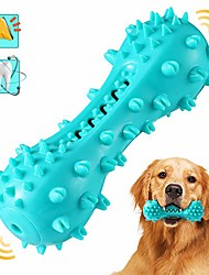 cheap -dog chew toothbrush toys, squeaky teeth cleaning toy for aggressive chewers large breed indestructible tough dog toothbrush stick for small medium large dogs dental care