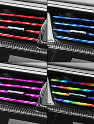 cheap -10pcs Car-styling Chrome Styling Moulding Car Air Vent Trim Strip Air Conditioner Outlet Grille Decoration U Shape