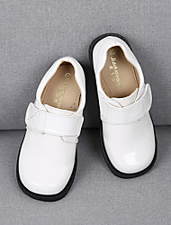 cheap -Girls' Flats Flower Girl Shoes Children's Day Princess Shoes Rubber Patent Leather Little Kids(4-7ys) Big Kids(7years +) Daily Party & Evening Walking Shoes White Black Gray Fall Spring