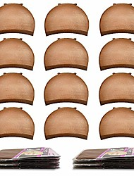 cheap -brown wig cap, 20pcs wig caps stocking caps for wigs stretchy wig caps wig caps for women-brown