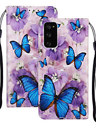 cheap -Case For Samsung Galaxy S20 Plus / S20 Ultra / S20 Shockproof Full Body Cases Butterfly / Animal PU Leather / TPU