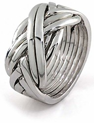 cheap -sterling silver puzzle ring 84sm - size: 8