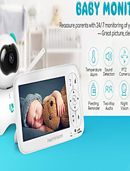 cheap -HeimVision HM136 5.0 Inch Baby Monitor with Camera Wireless Video Color 720P HD Nanny Security Night Vision Temperature Camera