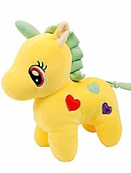 cheap -funny unicorn stuffed animal plush toy cute soft unicorn plush stuffed animal toy doll gift for kids babies girlfriend birthday party home bed room décor (yellow, 15.7in)