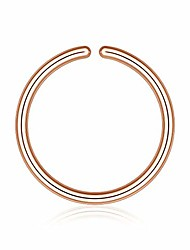 cheap -nose rings for women, 925 sterling silver 18 gauge rose gold nose ring hoop 8mm 18g septum ring lip helix daith fake earrings ear cuffs small cartilage earring hoop conch piercing jewelry for women