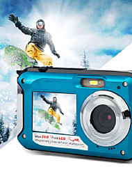 cheap -Dual Screen Camera Waterproof Hd Digital Camera Camcorder Portable Hd Camera