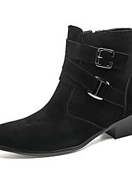 cheap -Men's Boots Business Casual Classic Daily Office & Career Suede Breathable Non-slipping Shock Absorbing Black Fall Winter