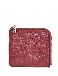 cheap -Women's Bags Nappa Leather Wallet Zipper Animal 2021 Daily Outdoor Black Purple Red Blushing Pink