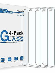 cheap -yootech screen protector compatible with iphone 12 pro max,[4 pack] tempered glass screen protector compatible with iphone 12 pro max 2020[anti-scratch][bubble free][case-friendly],6.7-inch