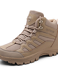 cheap -Men's Hiking Shoes Anti-Slip Wearable Comfortable Hiking Outdoor Exercise Spring, Fall, Winter, Summer Black Khaki