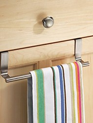 cheap -House Stainless Steel Cabinet Hanger Over Door Kitchen Hook Towel Rail Hanger Bar Holder Drawer Storage Bathroom Tools