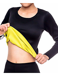 cheap -Sweat Waist Trainer Shirt Sports Neoprene Gym Workout Exercise & Fitness Slimming Hot Sweat Fat Burning For Women
