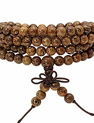 cheap -eigso unisex 6mm wenge mala prayer beads necklace bracelet meditation buddhist mala beads