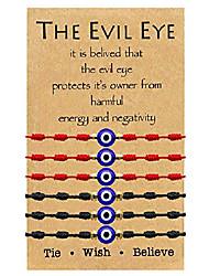 cheap -evil eye bracelet 7 knot lucky bracelets adjustable kabbalah string bracelet for women men family fits adult (double color)