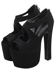 cheap -Women's Dance Shoes Pole Dancing Shoes Heel Slim High Heel Black Zipper Adults'