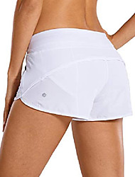 cheap -women's workout sports running active shorts with zip pocket - 2.5 inches white_2.5'' 14