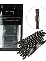 cheap -100 pieces disposable lip brushes lipstick gloss wands applicator makeup tool kits, black