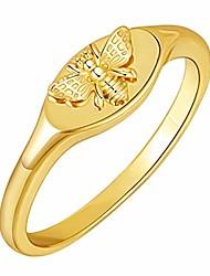cheap -14k gold signet rings for women sunflower bee handmade rings dainty flower engraved silver statement ring