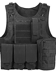 cheap -Men's Military Tactical Vest Airsoft Vest Outdoor Scratch-resistant Adjustable Size Multi-Pockets Breathable Spring Autumn Vest / Gilet Oxford cloth Hunting Training Combat Jungle camouflage Python