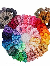 cheap -54 Pack Hair Scrunchies Velvet Toddler Scrunchies Hair Accessories for Girls Cute Vintage Vsco Girl Scrunchies for Curly Hair Scrunchy Hair Elastics Tie Ropes for Teens