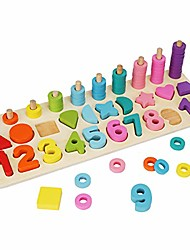 cheap -alphabet blocks, wooden peg puzzles wooden blocks kids wooden letters alphabet learning educational toys for children for counting numbers (a)